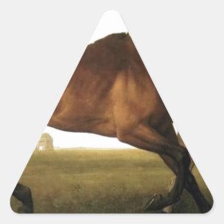 Hambletonian de George Stubbs Pegatina Triangular