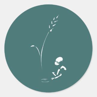 Hambre de la parada - hambre del niño/de los niños pegatina redonda