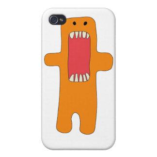 Hambre del tiene del naranja del monstruo del EL iPhone 4 Coberturas