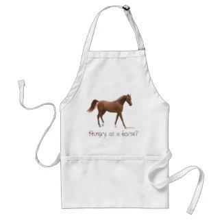 ¿Hambriento como caballo? Delantal