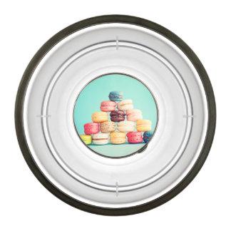 Hambriento, Macaron, inconformista, multicolor, Cuenco Acrílico