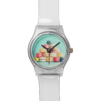 Hambriento, Macaron, inconformista, multicolor, Reloj