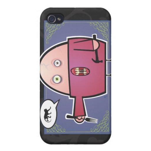Hambriento para el mono iPhone 4/4S carcasa