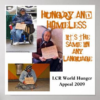 Hambriento y sin hogar póster