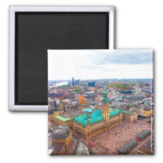 Hamburg 01A 2 Inch Square Magnet