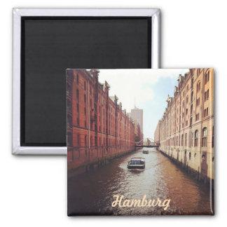 Hamburg 2 Inch Square Magnet