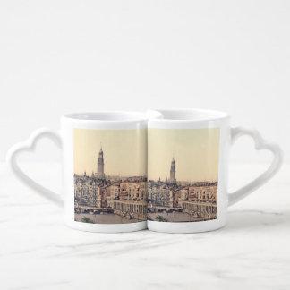 Hamburg Alsterarkaden Deutschland Alster Germany Coffee Mug Set