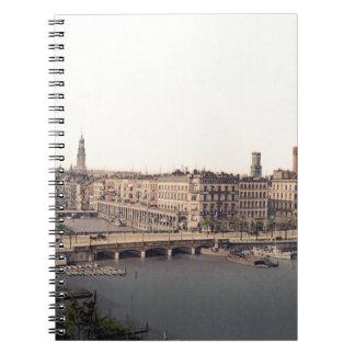 Hamburg Alsterarkaden Deutschland Alster Germany Notebook