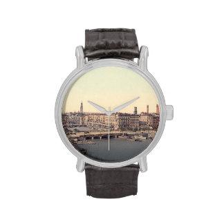 Hamburg Alsterarkaden Deutschland Alster Germany Wristwatch