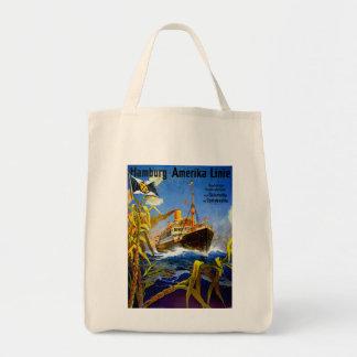 Hamburg America to South America Canvas Bags