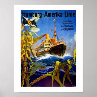 Hamburg America to South America Poster