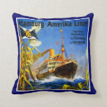 Hamburg America to South America Throw Pillow