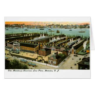Hamburg-American Line, Hoboken, New Jersey card