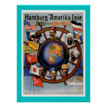 Hamburg American Line Poster