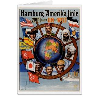 Hamburg Amerika Line Poster card
