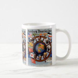Hamburg Amerika Line Poster Coffee Mug