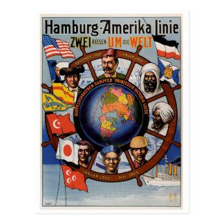 Hamburg Amerika Line Poster Post Cards