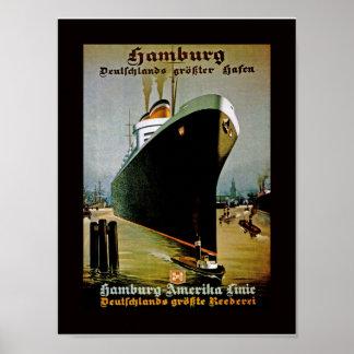 Hamburg-Amerika Line Print