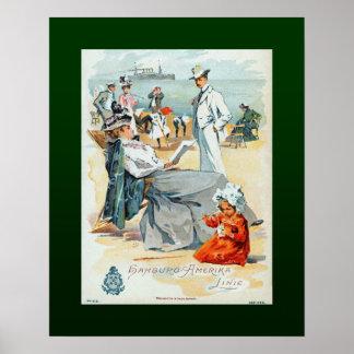 Hamburg-Amerika Lines~SS Victoria Luise~Children~ Poster