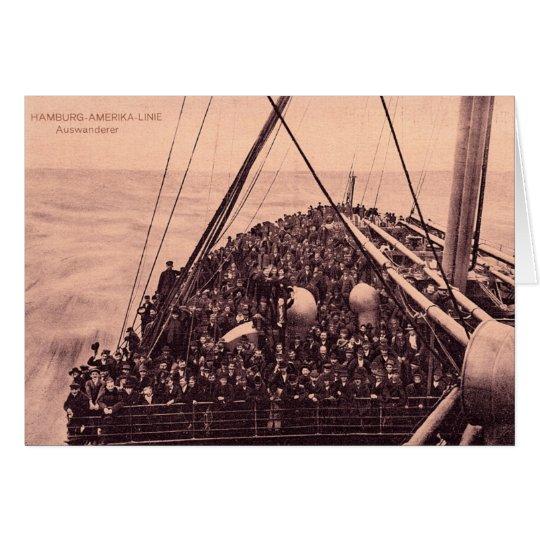 Hamburg Amerika Linie Auswanderer Emigrants 1910 Card