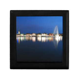 Hamburg Binnenalster at night Jewelry Box