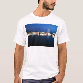 Hamburg Binnenalster at night T-Shirt