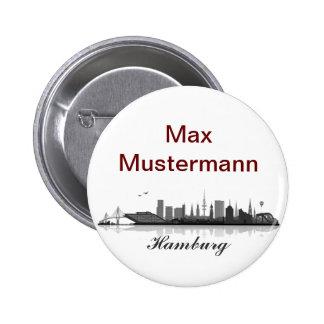 Hamburg button/Anstecker/pin Button
