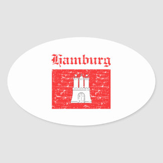 Hamburg City designs Oval Sticker