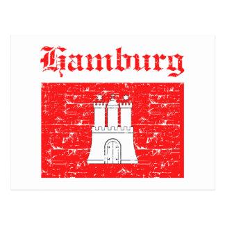 Hamburg City designs Postcard