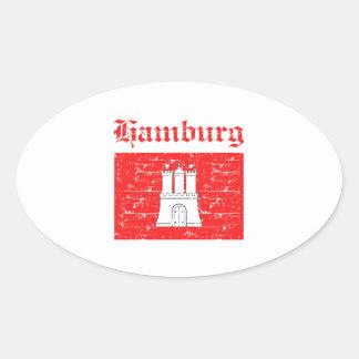 Hamburg City designs Oval Sticker