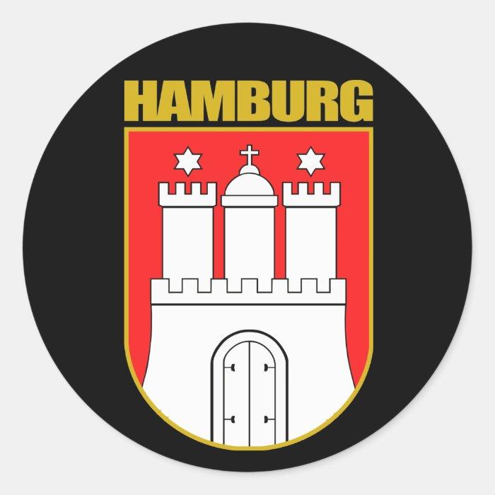 Hamburg COA Classic Round Sticker