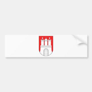 Hamburg coats of arms bumper sticker