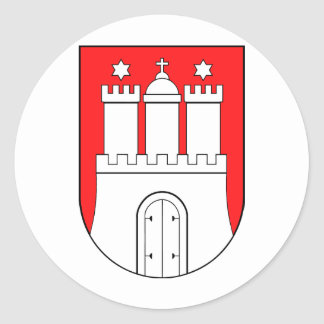 Hamburg coats of arms classic round sticker