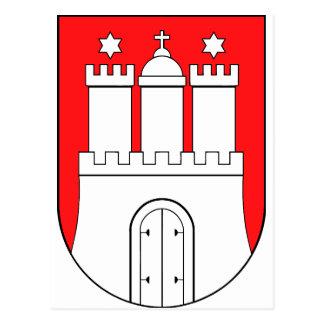 Hamburg coats of arms postcard