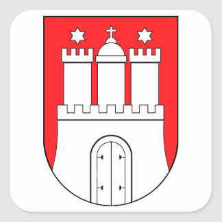 Hamburg coats of arms square sticker