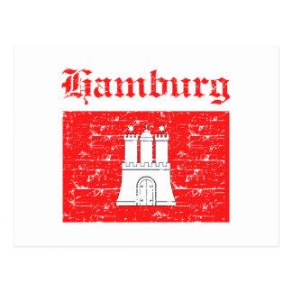 hamburg  flag designs postcard