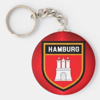 Hamburg Flag Keychain