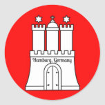Hamburg, Germany flag Round Sticker