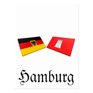 Hamburg, Germany Flag Tiles Postcard