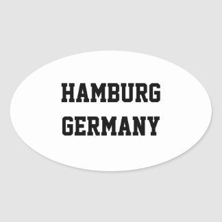 Hamburg Germany oval stickers