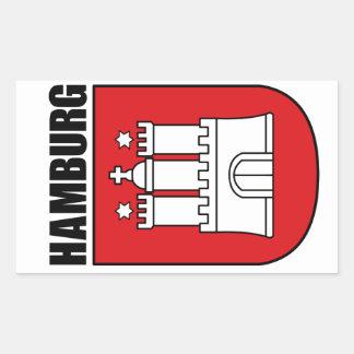 Hamburg (Hansestadt) Rectangular Stickers