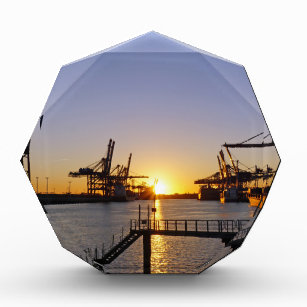 hamburg harbor acrylic award
