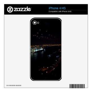 Hamburg Harbor at Night iPhone 4S Skins