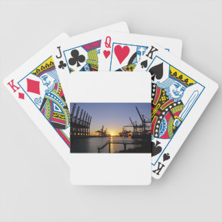 hamburg harbor bicycle playing cards