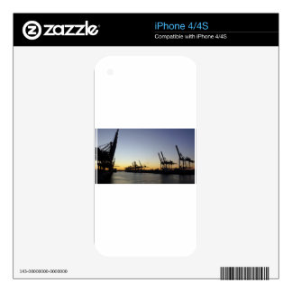 hamburg harbor decal for the iPhone 4
