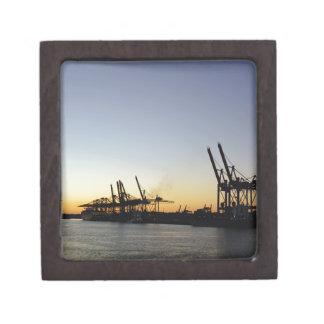 hamburg harbor keepsake box