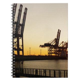 hamburg harbor notebook