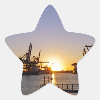 hamburg harbor star sticker