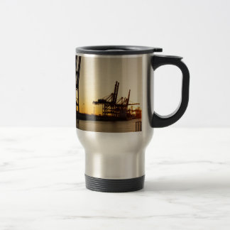 hamburg harbor travel mug
