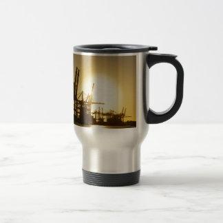 hamburg harbor travel mug
